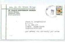 PHILIPPINES Cover 1991 *Bingawan Iloilo* Missionary Air Mail MIVA FLOWERS CM98