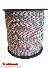 POLY ROPE 500M PREMIUM 4MM ULTRA LOW RESISTANCE - ELECTRIC FENCE POLYROPE WIRE