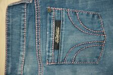 SERFONTAINE AVATAR Jean R/S Jeans Pink Stretch Bootcut Flare M Wash Womens 28 33