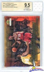 2003 UD Freshman #40 Lebron James RC+Game Used High School Jersey BGS 9.5 GEM