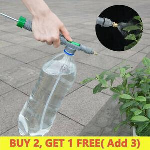 Adjustable High Pressure Manual Sprayer Drink Bottle Spray Air Pump Head Nozzle/