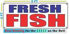 FRESH FISH Banner Sign NEW Larger Size Best Quality for the $$$ Market
