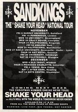 "9/11/91 Pgn43 Advert: Sandkings shake Your Head Single & National Tour 7x5"""