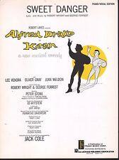 Sweet Danger 1961 Kean Sheet Music