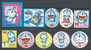 ˳˳ ҉ ˳˳G130 Japan Greeting Doraemon ¥82 2016 used complete set 日本