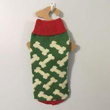 Small dog Sweater Nwt red green Bone World Market New knit crochet Christmas S
