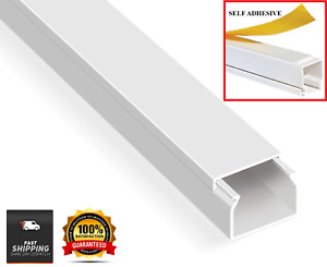 Electrical Cable Trunking Plastic Cable Conduit PVC Wire Cover Mini Trunk White
