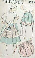 885d9f57 Vintage 1940s Advance sewing pattern 4998 3 adorable aprons cut good cond  MEDIUM