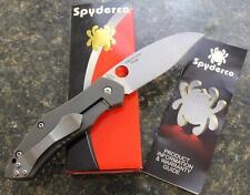 NEW Spyderco C194CFTIP Myrtle Folding Knife Marbled Carbon Fiber Titanium S30V