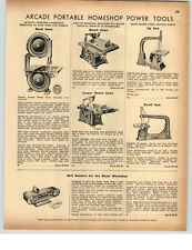 1942 Paper ad ARCADE casa portatile Power Tools band ha visto Bench JIG Scroll