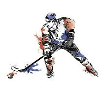 HOCKEY PLAYER GiAnT Wall Decals BoYs Sports Room Decor Stickers Decorations NEW
