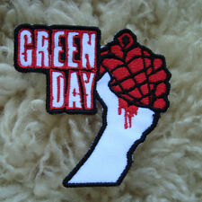 1PC. GREEN DAY ROCK MISIC BAND EMBROIDERED IRON ON PATCH SHIRT SHORTS HAT CAP