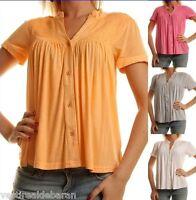 Top Maglia Polo Donna T-Shirt Maniche Corte MM&I Myself 71034-A898 Tg S M L  **
