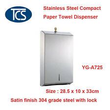 TCS Stainless Steel Compact Paper Towel Dispenser