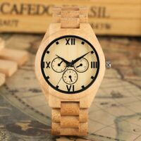 Full Wooden Watches Handmade Fashion Wood Bamboo Strap for Men/Women Watch