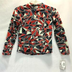 Hot Chilly's Boys Pepper Fleece Top Shatter Red White Blue Youth Medium NEW