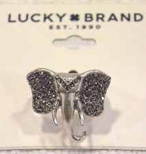 LUCKY BRAND RING, SIZE 7, LUCKY ELEPHANT RING, LOTS OF MARCASITE DETAIL!  NWT