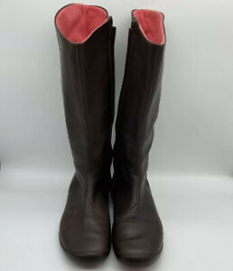Tsubo Women's Leather Boots Brown Size 9
