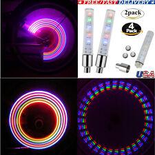 4/2 pcs Valve Stem LED CAP for Bike Bicycle Car Motorcycle Wheel tire Light lamp