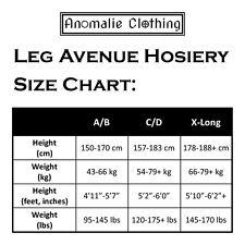 Leg Avenue Fashion Sheer Thigh-High Black Stockings Plus Size 1X-3X