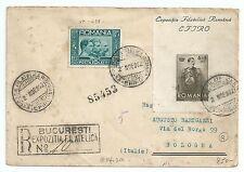 ROMANIA 1932 FDC  RACCOMANDATA ESPOSIZIONE FILATELICA + Yv427  16LEI