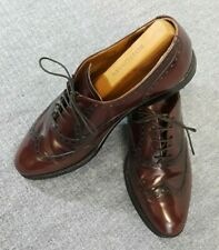 COLE HAAN Wingtip Oxfords Size 8 D Burgundy Leather Mens Dress Shoes USA Made