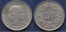 MONETA COIN MONNAIE HELVETIA SUISSE SWITZERLAND SVIZZERA - 20 RAPPEN 1947 -