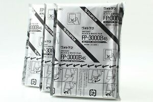 【Open Box *Set of3 】 FUJIFILM FP-3000B 45 8.9x11.8cm 4x5 Expired Film from JAPAN