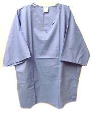 Men's Ceil Blue 3XL Medline Reversible V Neck Chest Pocket Medical Scrub Top New