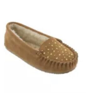 Minnetonka Starling Rhinestone Suede Slippers Size 11  NWOB