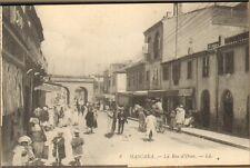 ALGERIE MASCARA CARTE POSTALE RUE D' ORAN