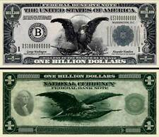 BILLET ONE BILLION DOLLAR US ! Collection Etats Unis 1 MILLIARD Monnaie Million