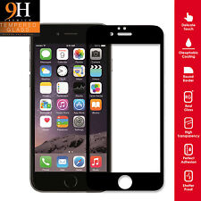 Genuine Tempered Glass Screen Protector Premium Full For iPhone 5 5S BLACK EDGE