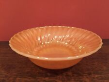 Vintage Anchor Fire King Peach Lustre Shell Bowl