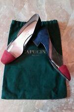 Scarpe CAPUCINE decoltè donna in camoscio blu e rosso n 36