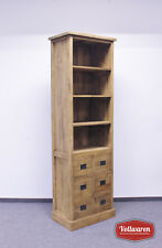 TEAK KONTOR BÜCHERREGAL SE34-1  Teakholz antik massiv 210x65 Regal Bücherschrank