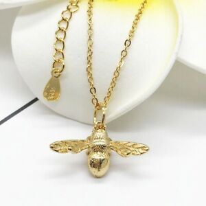Bumble Bee Necklace Sterling Silver 925