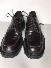 J. Crew Size 7 Vera Gomma Brown Leather Lace-Up Oxfords M38426 Made in Italy