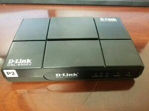 D-Link DSL-6300V VDSL2 Modem Verizon Version Charger Ethernet Cable LOOK