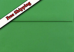 Holiday Green Envelopes for Invitations Announcement Shower Weddings Enclosure