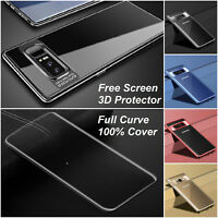 Shockproof 360° Metal effect TPU Case Cover For Samsung Galaxy S8 S9 S9 Plus +