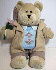 Starbucks Bearista Collectible Plush Stuffed Bear with Sweater Jacket and Flower