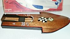 vintage1950s porpoise wood hydroplane toy model boat built with box