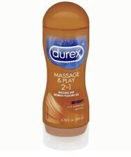Durex Massage & Play 2 in 1 Lubricant 6.76oz EXP 06/21 Sealed
