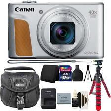 Canon PowerShot SX740 HS Digital Camera (Silver) + 32GB Accessory Kit