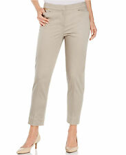 Jones New York Cotton Blend Cropped Slim Leg Pants Khaki Sz 10 $59