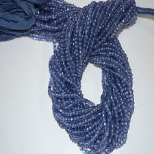 Natural Iolite Gemstone Rondelle Micro Faceted Beads Full Strand 13 inch 3-3.5mm