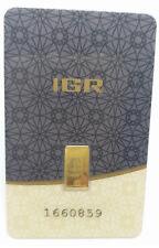 1/2 0.5 gr gram gold bar 999,9 goldbarren lingot d'or bar d'oro lingotes guldbar