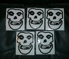 """Misfits Sticker Decal 5"""" Fiend Skull Danzig  lot of 5"""