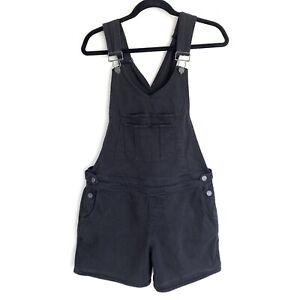 PAIGE Vintage Black Overall Shorts Denim Size Medium